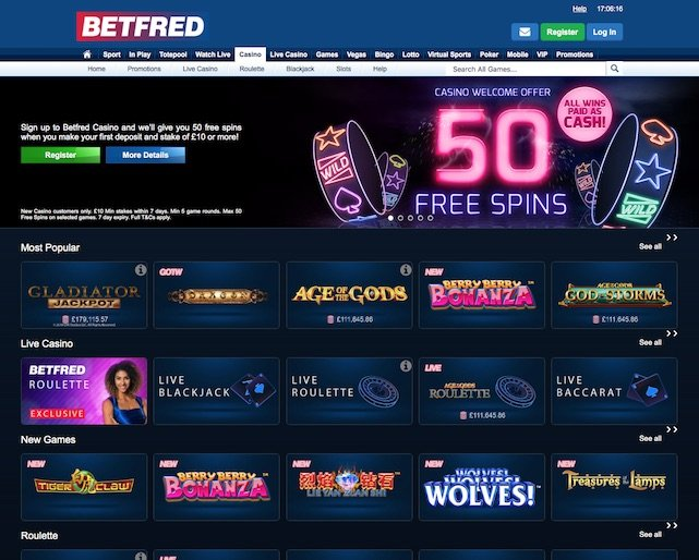 Betfred Casino UK Review Screenshot