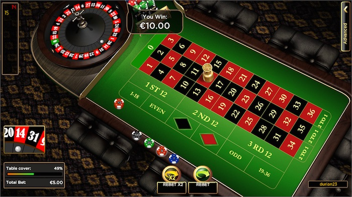 Games at Vegas Spin Casino include European Roulette