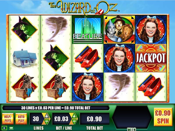 Play The Wizard of Oz Slot at wickedjackpots.com Casino