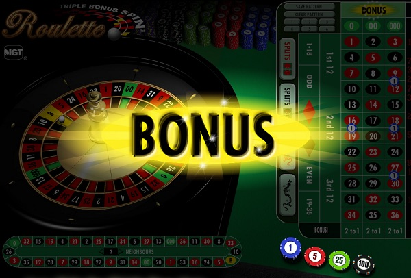 Triple Spin Bonus Roulette at Slingo.com UK Casino