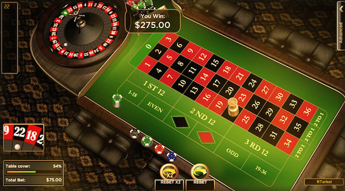 777 Casino Games include European Roulette
