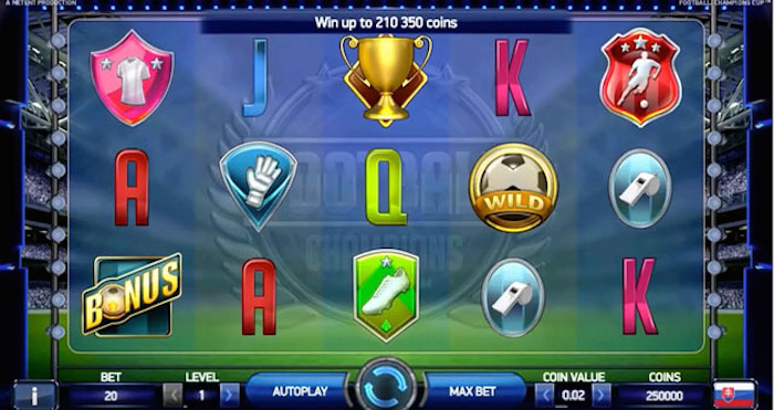 Screenshot of Football Champions Cup Online Slot