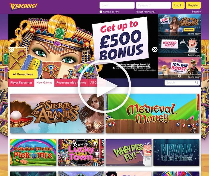 Kerching Casino Review Screenshot UK