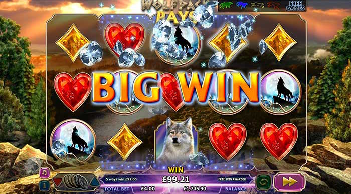 Screenshot of Wolf Pack Pays Online Slot