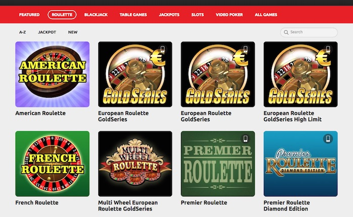 Play one of several online roulette games at PKR