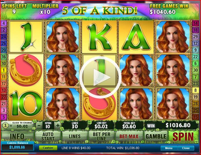 Get Free Spins on Irish Luck at Foxy Casino