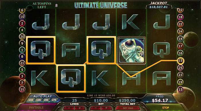 Ultimate Universe Online Slot at 777.com