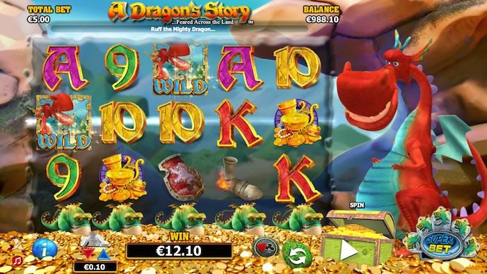 Screenshot of A Dragons Story Online Slot