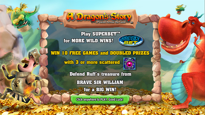 Play A Dragons Story with Bigger Bets using Superbet Mode