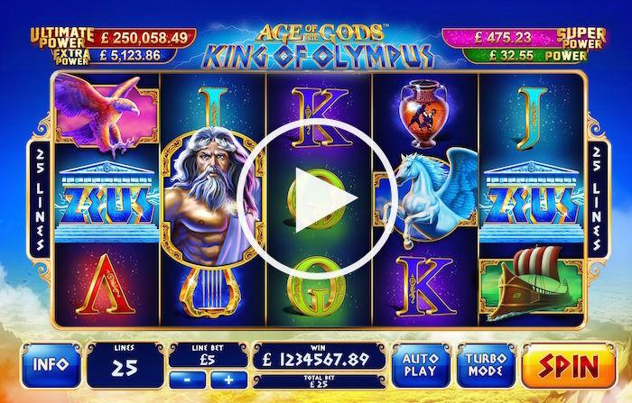 Gameplay Screenshot Playtech King of Olympus Slot