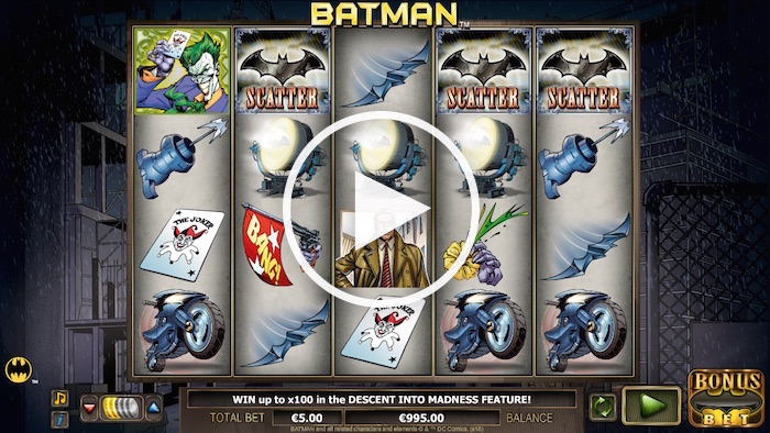 Screenshot of Batman Online Slot