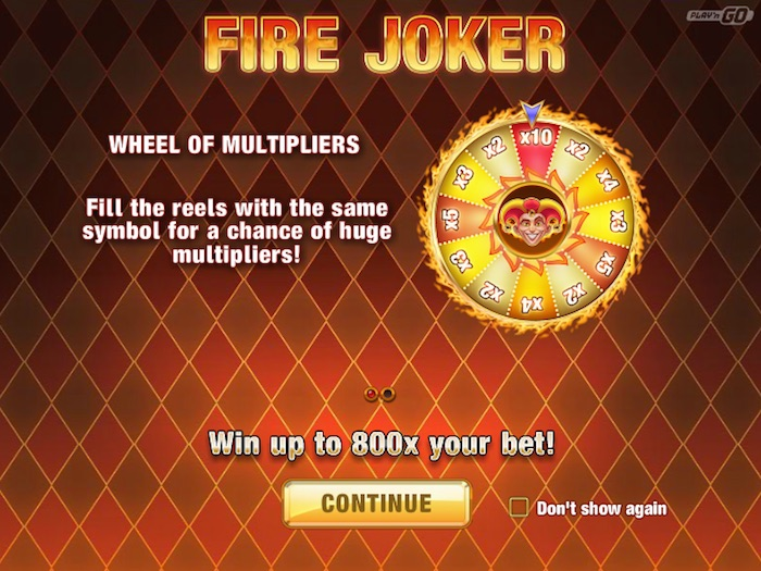 Wheel of Multipliers Bonus Round on Fire Joker