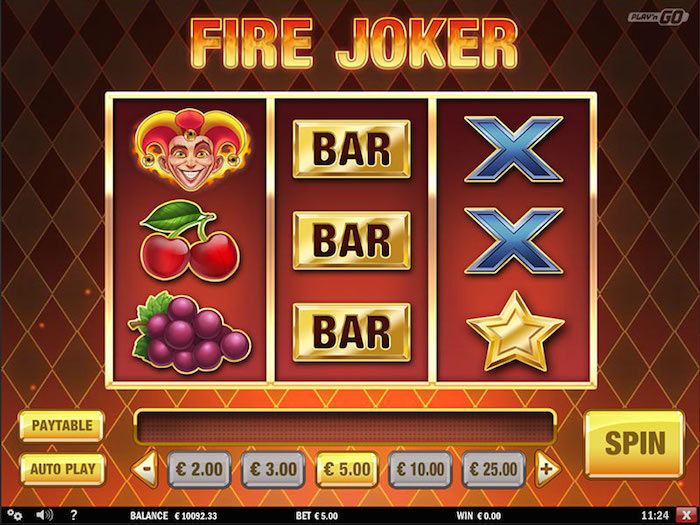 Play the Fire Joker Slot at Dragonara.com