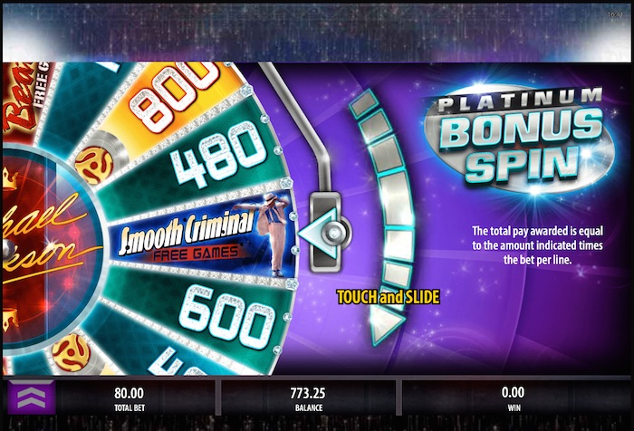 King of Pop Slot features Beat It and Smooth Criminal Free Games