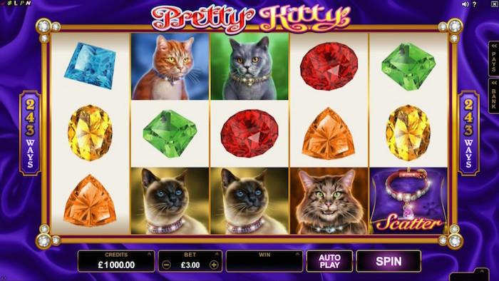 Screenshot of Pretty Kitty Online Slot