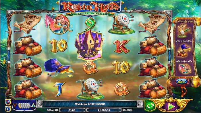 Screenshot of Robin Hood Prince of Tweets Online Slot