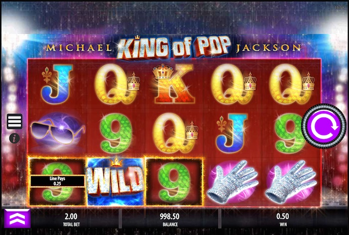 Screenshot of Michael Jackson Online Slot