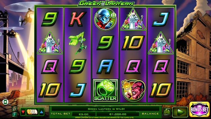 The Green Lantern Slot Gameplay Screenshot