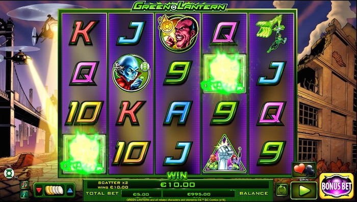Green Lantern Slot at Rizk Casino
