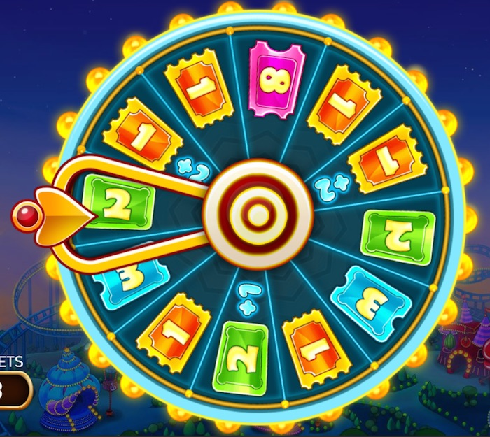Spin the Big Bonus Wheel in Theme Park: Tickets of Fortune