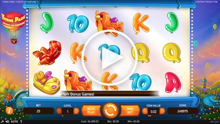 Theme Park: Tickets of Fortune Online Slot Gameplay Screenshot
