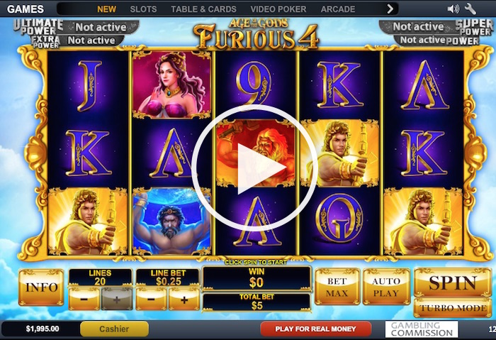 Age of Gods Furious 4 Online Slot
