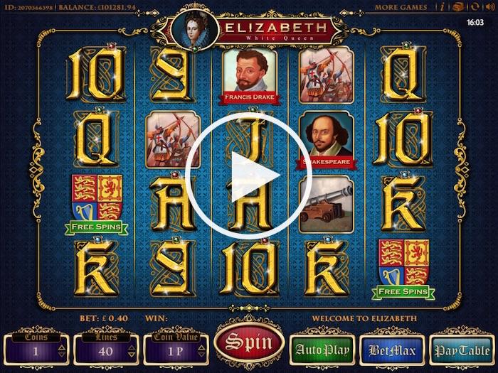Cozy Games Elizabeth White Queen Slot Gameplay Screenshot