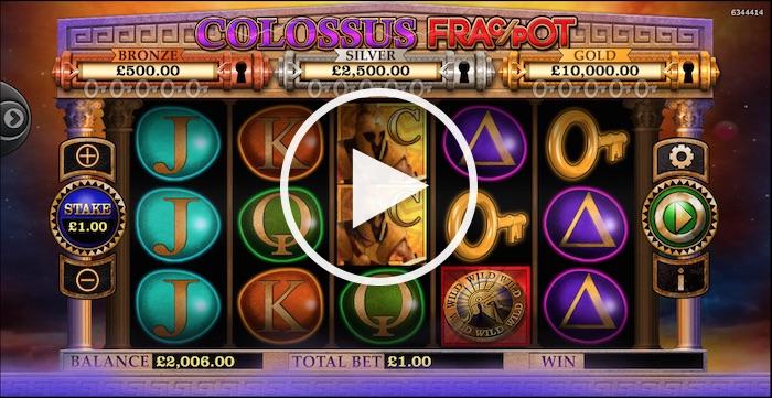 Gameplay Screenshot during Colossus FracPot Slot Review