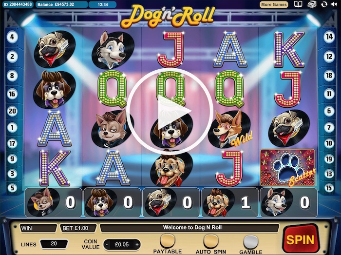 Dog n Roll Slot Machine - Play the Free Casino Game Online