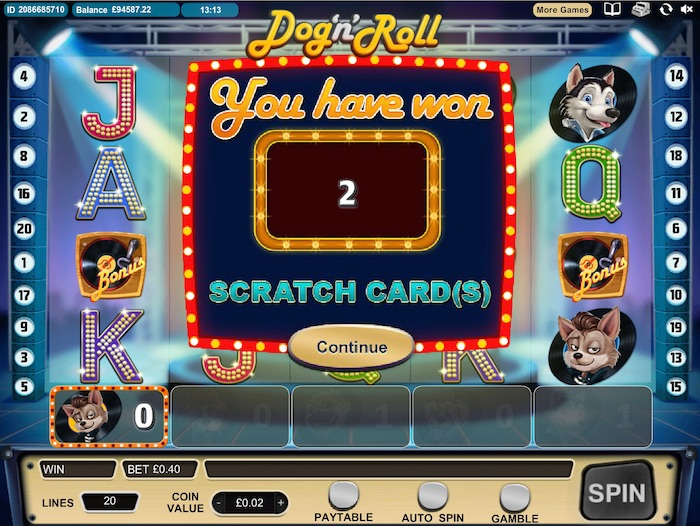 Play Dog N Roll Slot by Cozy Games