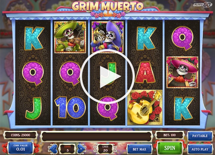Screenshot of Grim Muerto Online Slot