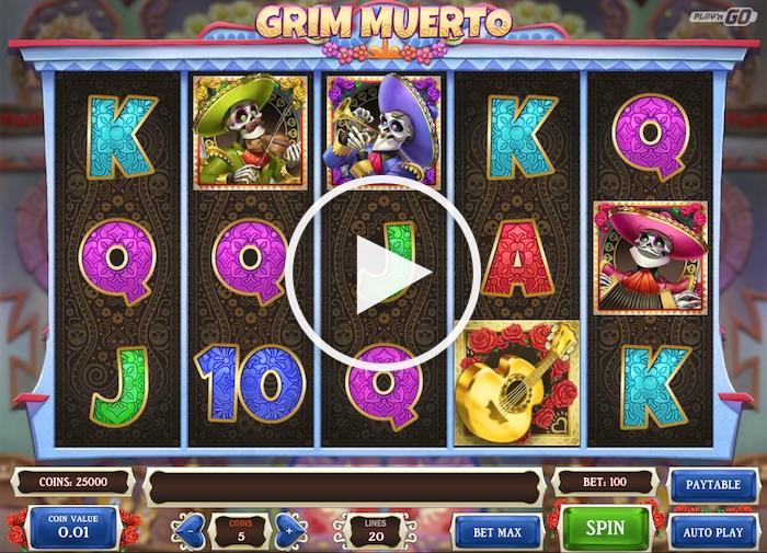 Gameplay Screenshot of Grim Muerto Slot Free Play