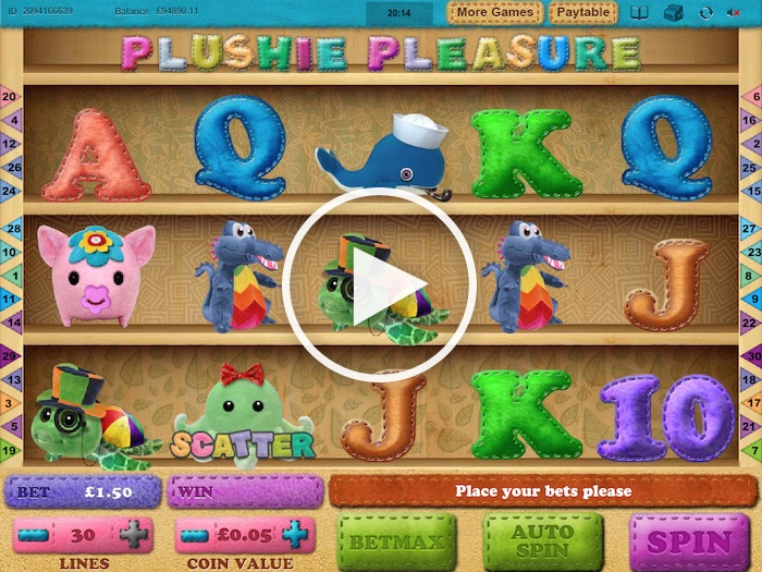 Cozy Games Plushie Pleasure Online Slot Gameplay Screenshot
