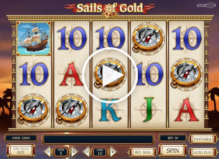 Screenshot of Sails of Gold Online Slot
