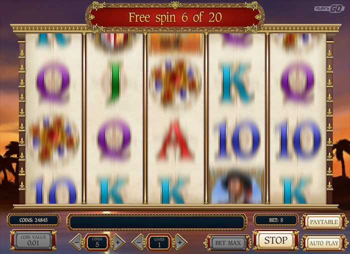 Sails of Gold Online Slot Graphics during Spin