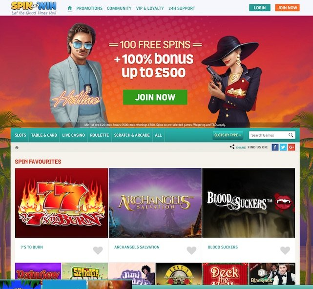 Screenshot of www.spinandwin.com Lobby