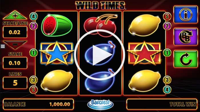 The Wild Times Slot is a Classic Online Fruit Machine