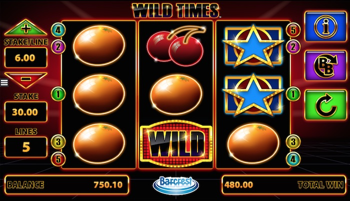 Any wins that includes a WILD will be multiplied by the multiplier chosen at the wheel multiplier