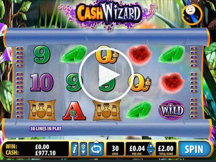 Screenshot of Bally Tech Cash Wizard Online Slot
