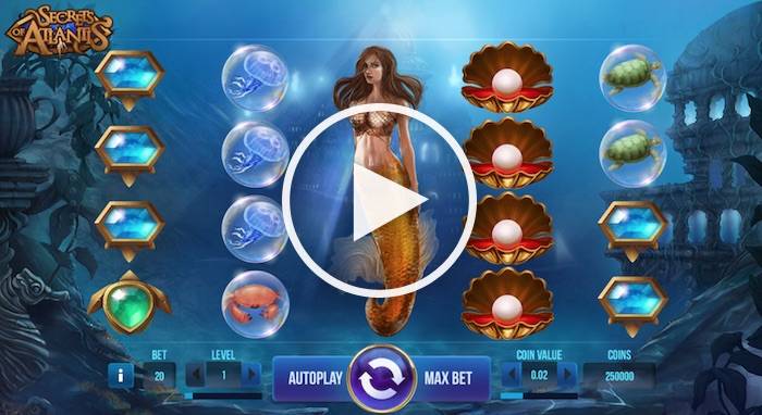 Screenshot of Secrets of Atlantis Online Slot