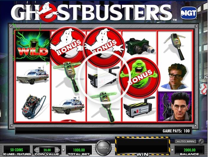 IGT Ghostbusters Slot Gameplay Screenshot