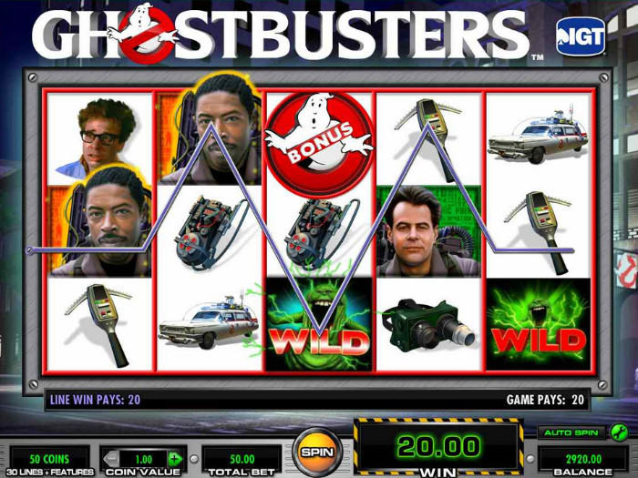 IGT Ghostbusters Slot Game