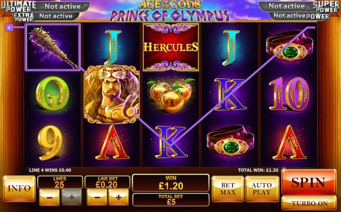 Age of the Gods Slots boasts powerful Playtech Graphics Software