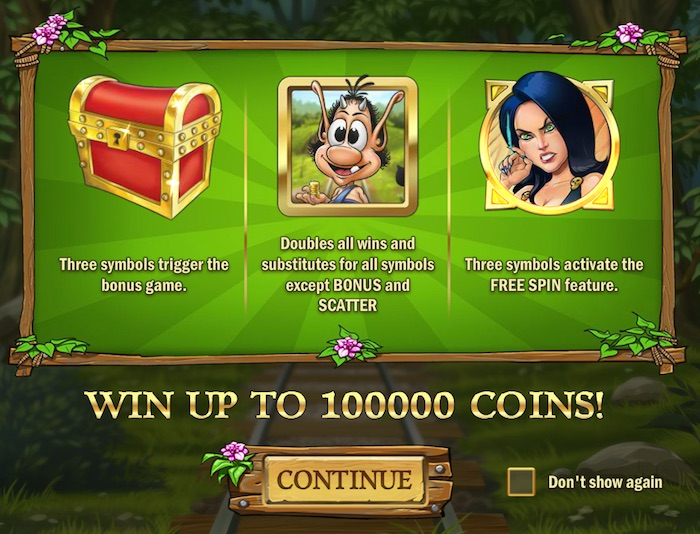 Play'N Go Hugo Slot Free Play Introduction Screenshot