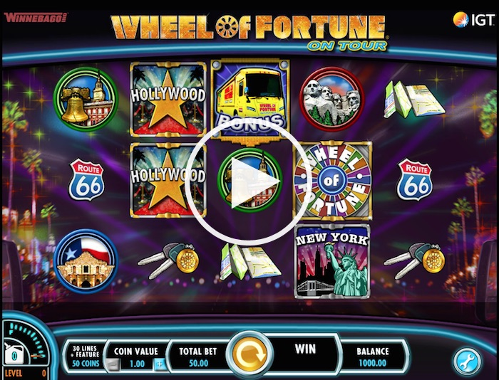 Screenshot of Wheel of Fortune On Tour Online Slot