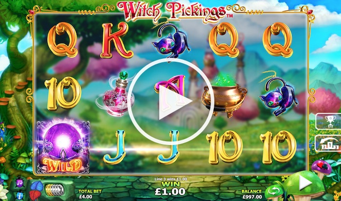 Screenshot of Witch Pickings Slot
