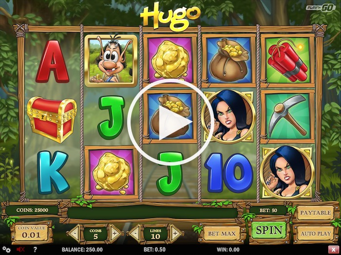 Gameplay Screenshot of Hugo Online Slot