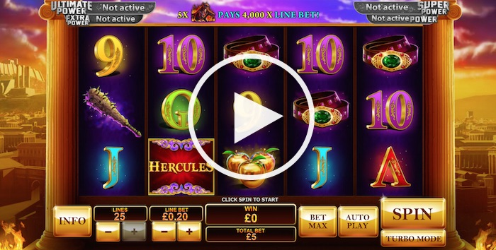 Screenshot of Age of the Gods Prince of Olympus Online Slot