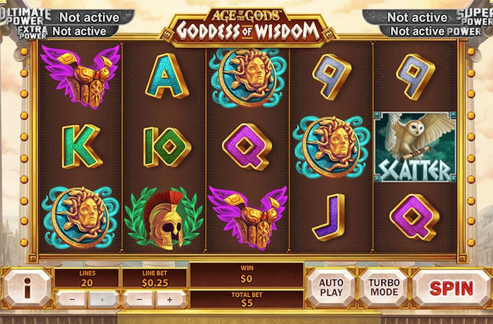Age of the Gods Goddess of Wisdom Slot Review