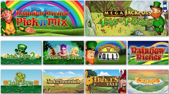 Pots of Luck Casino includes a selection of Irish Online Slots